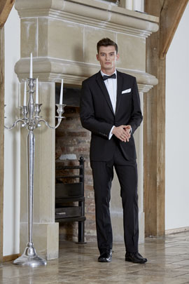Slim Fit Black Dinner Jacket