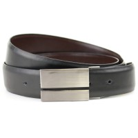 Black And Brown Buckle Reversible Belt