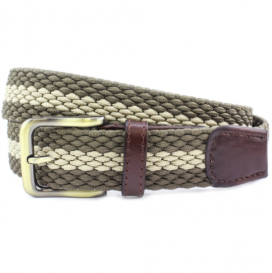 Beige Sttiped Belt