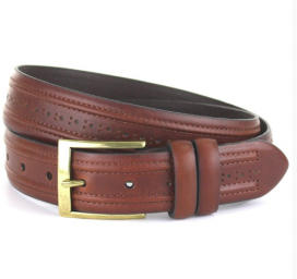 Brown Brogue Style Belt