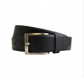 Black Chamferred Edge Belt