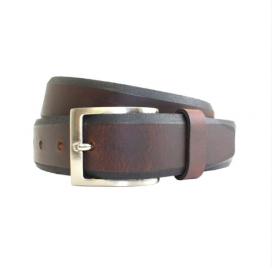 Brown Chamferred Edge Belt
