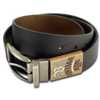 Black and Brown Textured Reversible Belt