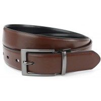 Wide Black and Brown Reversible Belt