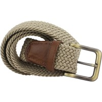 Dark Brown Tip Woven Belt