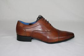 Burnished Tan Leather Oxford Lace Up