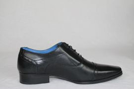 Black Leather Oxford Lace Up