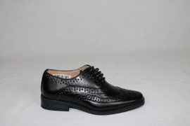 Childrens Black Brogue