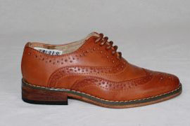 Childrens Tan Brogue