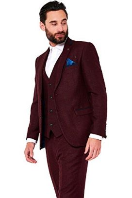 Wine Dylon Marc Darcy 3 Piece Suit