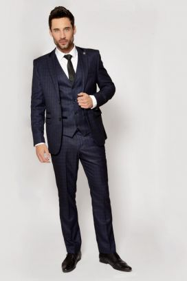 Navy Shane Marc Darcy 3 Piece Suit