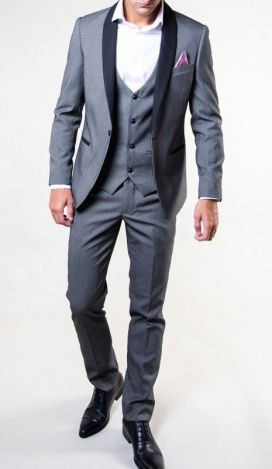 Grey Sam Marc Darcy Dinner 3 Piece With Contrasting Waistcoat