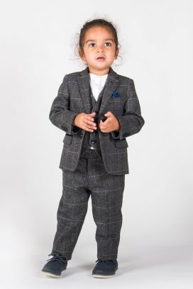 Grey Scott Childrens Marc Darcy 3 Piece Suit