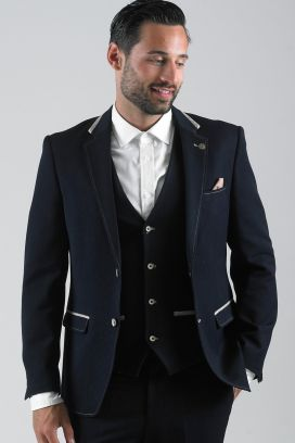 Navy Will Marc Darcy 3 Piece Suit