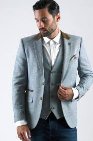 Sky Blue Oscar Marc Darcy 3 Piece Suit
