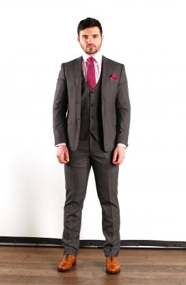Grey Richmond Marc Darcy 3 Piece Suit