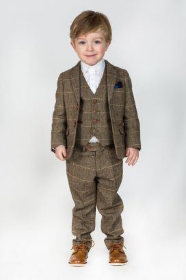 Tan Ted Childrens Marc Darcy 2 Piece Suit